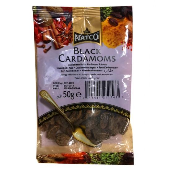 Natco Black Cardamoms (50g)