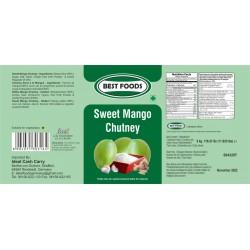 BEST FOODS SWEET MANGO CHUTNEY 5KG