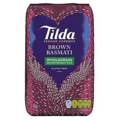 Tilda Wholegrain Brown Basmati Rice 1Kg
