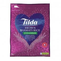 Tilda Wholegrain Brown Basmati Rice 5KG